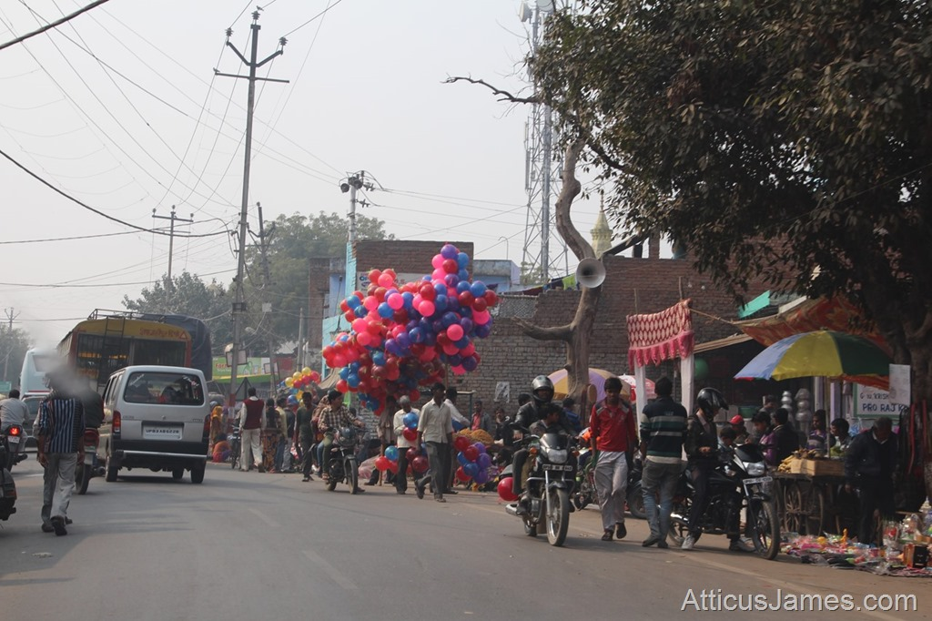 Street with balloons