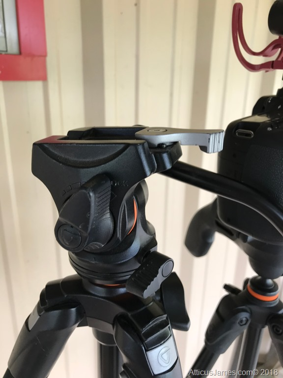 Vanguard PH113V head mounted to the ABEO 243AV tripod (Lock side)